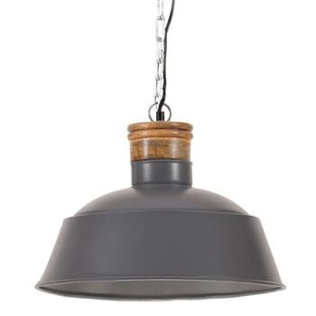 vidaXL Industrijska viseća svjetiljka 42 cm siva E27