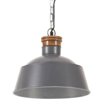 vidaXL Industrijska viseća svjetiljka 32 cm siva E27