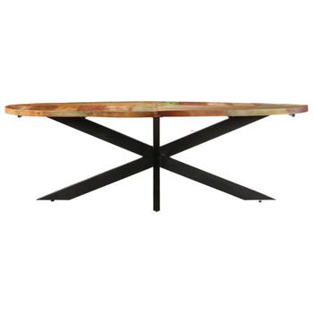 vidaXL Blagovaonski stol 240 x 100 x 75 cm masivno obnovljeno drvo