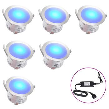 vidaXL LED podne svjetiljke 6 kom plave