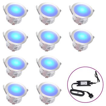 vidaXL LED podne svjetiljke 10 kom plave