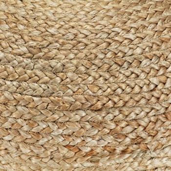 vidaXL Ručno rađeni tabure od jute maslinastozeleni 40 x 45 cm