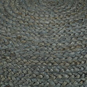 vidaXL Ručno rađeni tabure od jute maslinastozeleni 45 x 30 cm