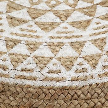 vidaXL Ručno rađeni tabure od jute 45 x 30 cm bijeli