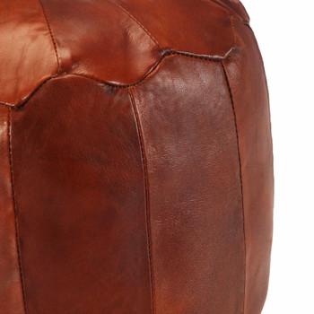 vidaXL Tabure od prave kozje kože 40 x 35 cm
