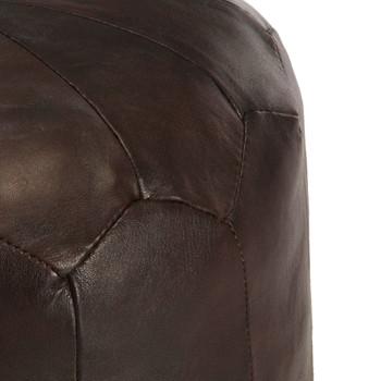 vidaXL Tabure tamnosmeđi 40 x 35 cm od prave kozje kože