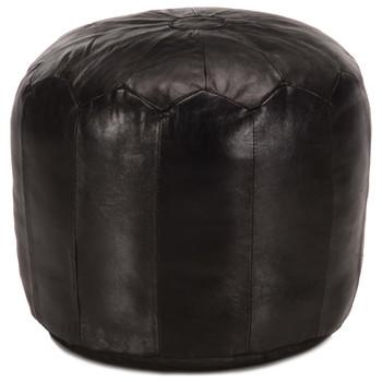 vidaXL Tabure crni 40 x 35 cm od prave kozje kože