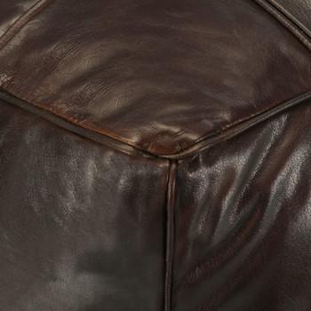 vidaXL Tabure tamnosmeđi 60 x 60 x 30 cm od prave kozje kože