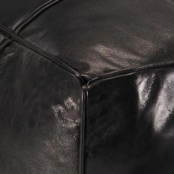 vidaXL Tabure crni 60 x 60 x 30 cm od prave kozje kože