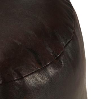 vidaXL Tabure tamnosmeđi 60 x 30 cm od prave kozje kože