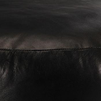 vidaXL Tabure crni 60 x 30 cm od prave kozje kože