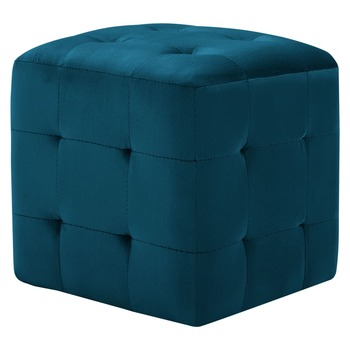 vidaXL Tabure 2 kom plavi 30 x 30 x 30 cm od baršunaste tkanine