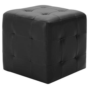 vidaXL Tabure 2 kom crni 30 x 30 x 30 cm od umjetne kože