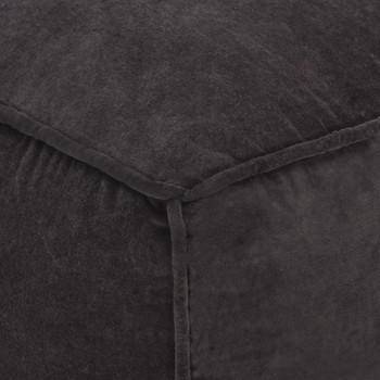 vidaXL Tabure od pamučnog baršuna 40 x 40 x 40 cm antracit