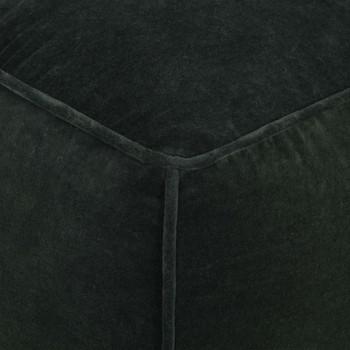 vidaXL Tabure od pamučnog baršuna 40 x 40 x 40 cm šumski zeleni