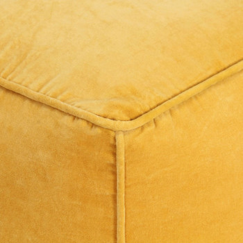 vidaXL Tabure od pamučnog baršuna 40 x 40 x 40 cm žuti