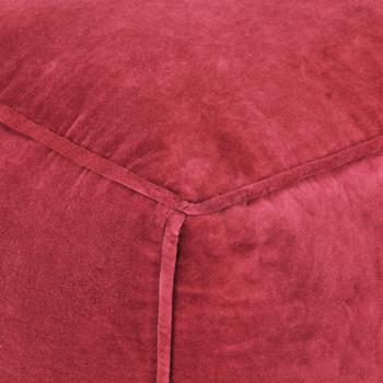 vidaXL Tabure od pamučnog baršuna 40 x 40 x 40 cm crveni