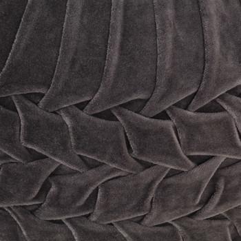 vidaXL Tabure od pamučnog baršuna nabrani dizajn 40 x 30 cm antracit