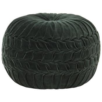 vidaXL Tabure od pamučnog baršuna nabrani dizajn 40 x 30 cm zeleni