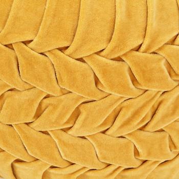 vidaXL Tabure od pamučnog baršuna nabrani dizajn 40 x 30 cm žuti