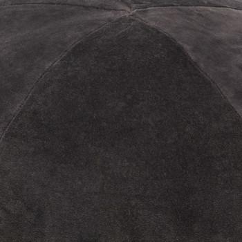 vidaXL Tabure od pamučnog baršuna 50 x 35 cm antracit