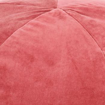 vidaXL Tabure od pamučnog baršuna 50 x 35 cm ružičasti