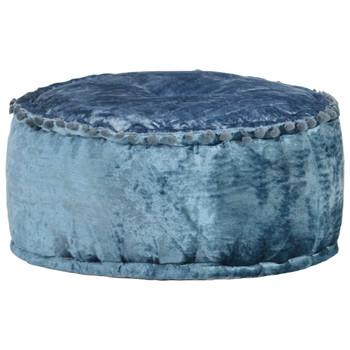 vidaXL Okrugli tabure baršunasti 40 x 20 cm plavi