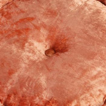 vidaXL Okrugli tabure baršunasti 40 x 20 cm boja hrđe