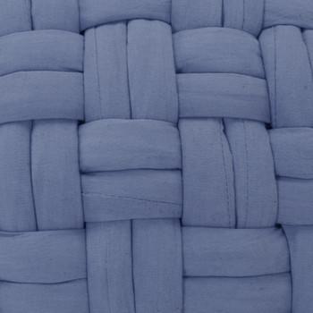 vidaXL Tabure s pletenim dizajnom plavi 50 x 35 cm pamučni