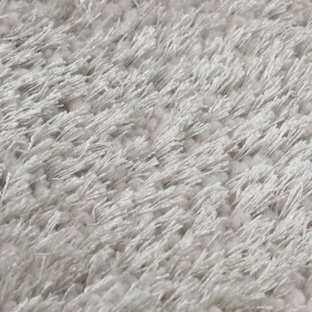 vidaXL Čupavi ukrasni tepih 140 x 200 cm sivi