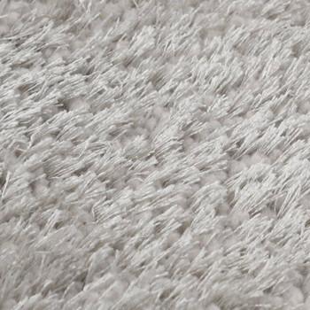 vidaXL Čupavi ukrasni tepih 160 x 230 cm sivi
