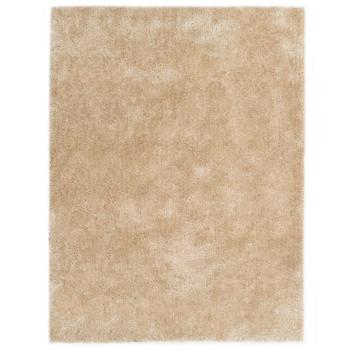 vidaXL Čupavi ukrasni tepih 140 x 200 cm bež