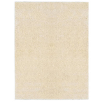 vidaXL Čupavi ukrasni tepih 80 x 150 cm krem