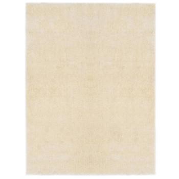 vidaXL Čupavi ukrasni tepih 140 x 200 cm krem