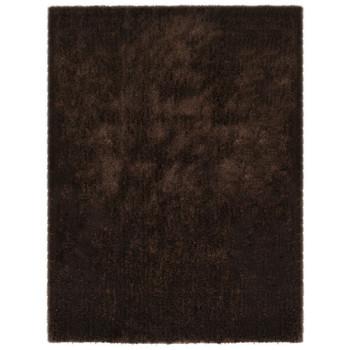 vidaXL Čupavi ukrasni tepih 80 x 150 cm smeđi