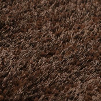 vidaXL Čupavi ukrasni tepih 160 x 230 cm smeđi