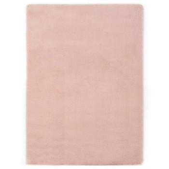 vidaXL Tepih od umjetnog zečjeg krzna 120 x 160 cm blijedo ružičasti