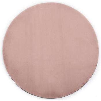 vidaXL Tepih od umjetnog zečjeg krzna 160 cm blijedo ružičasti