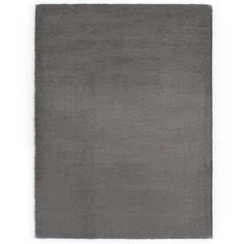 vidaXL Tepih od umjetnog zečjeg krzna 80 x 150 cm tamnosivi