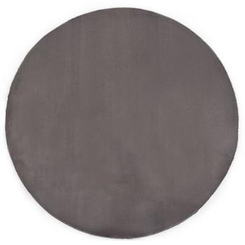 vidaXL Tepih od umjetnog zečjeg krzna 80 cm tamnosivi