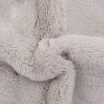 vidaXL Tepih od umjetnog zečjeg krzna 65 x 95 cm sivi