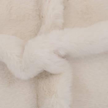 vidaXL Tepih od umjetnog zečjeg krzna 65 x 95 cm krem