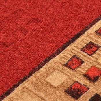 vidaXL Dugi tepih s gelastom podlogom crveni 67 x 150 cm