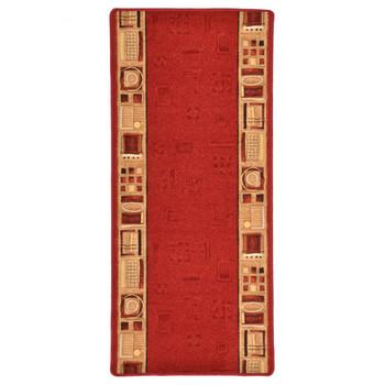 vidaXL Dugi tepih s gelastom podlogom crveni 67 x 200 cm