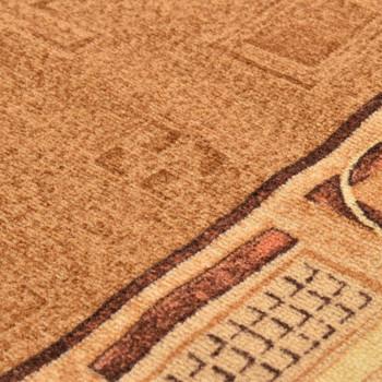 vidaXL Dugi tepih s gelastom podlogom bež 67 x 150 cm