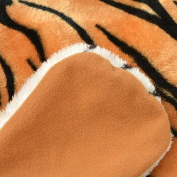 vidaXL Tepih Tigar od Pliša 144 cm Smeđi