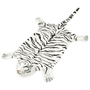 vidaXL Tepih Tigar od Pliša 144 cm Bijeli