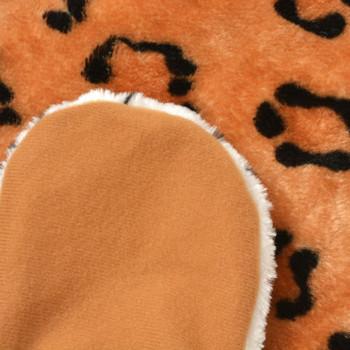 vidaXL Tepih Leopard od Pliša 139 cm Smeđi