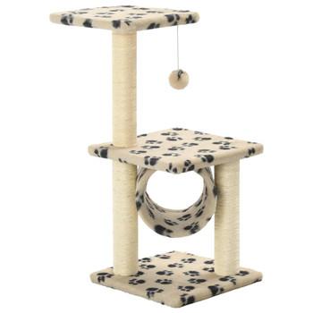 vidaXL Penjalica za mačke sa stupovima za grebanje 65 cm bež s uzorkom