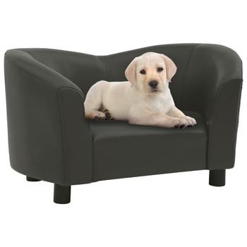 vidaXL Sofa za pse tamnosiva 67 x 41 x 39 cm od umjetne kože
